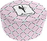 Diamond Dancers Round Pouf Ottoman (Personalized)