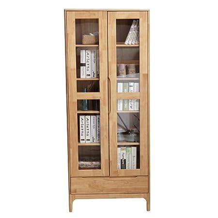 Foto Di Librerie In Legno.Lykh Scaffale Portaoggetti Libreria In Vetro Rovere Libreria Con