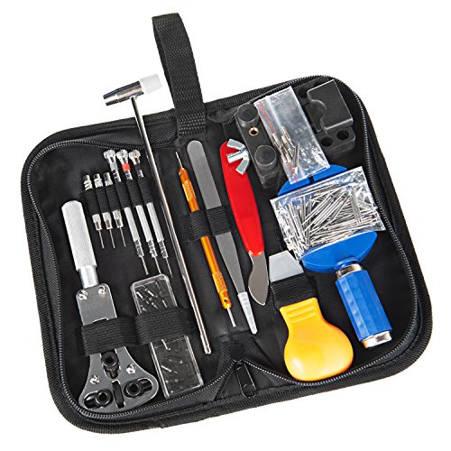 Watch Repair Tool Kit 147 PCS Professional Spring Bar Watch Band Link Pin Tools Set with Carrying -