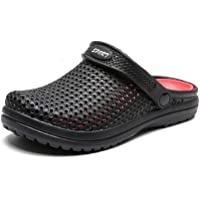 Summer Casual Beach Crocs for Men Plastic Lightweight Breathable Water Sandals Two Tones Anti-slip Mens Sandals L.T.JHJD