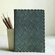 storeindya Handmade Genuine Leather Dream Journal Diary Eco Friendly Unlined Pages Compact Travel Writing Journal for Men & Women (Green Gambling Collection)
