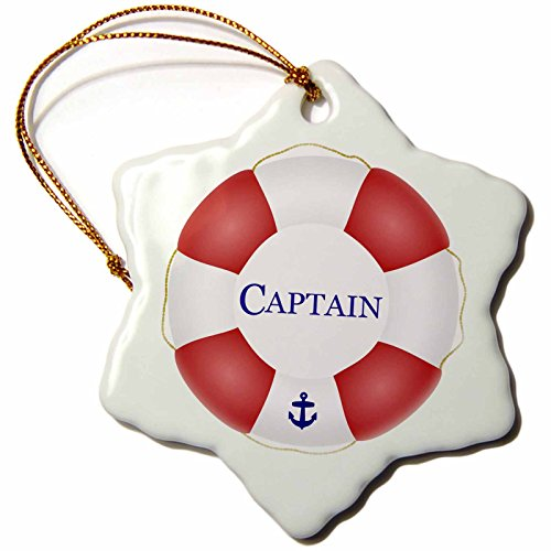 3dRose orn 112924 1 Lifesaver Ship Preserver Nautical Sailing Sea