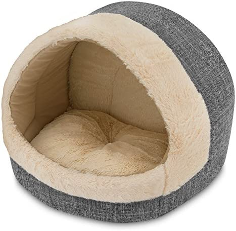 2-in-1 Cat Bed and Cave – with Plush Lining by Best Pet Supplies