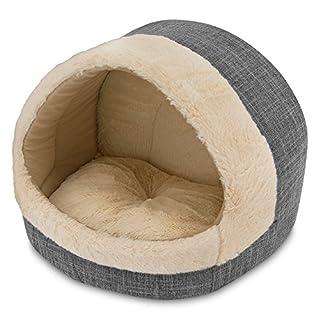 "Best Pet Supplies, Inc. Cozy Cat Cave, Inc, Inc, 17""x15""x14, Grey, CR302-GR"