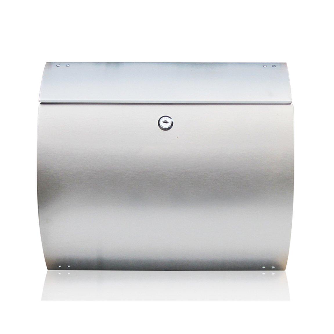 HZBb ステンレス製の郵便箱屋外防水ヨーロッパスタイルのヴィラの郵便箱、壁の装飾   B07KDS7BSM