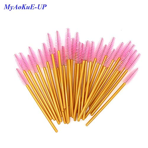 Best Quality - Makeup Brushes - Pcs/lot Disposable One-off 5 Mix Colors Nylon Mascara Wands Eyelash Extension Applicator Spoolers Makeup Brushes - by Olwen Shop by Olwen Shop (Image #7)