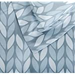 AmazonBasics-5-Piece-Bed-In-A-Bag-Twin-Twin-Extra-Long-Bedding-Comforter-Sheet-Set-Grey-Leaf-Microfiber-Ultra-Soft