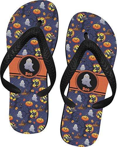 Halloween Night Flip Flops - Large (Personalized)