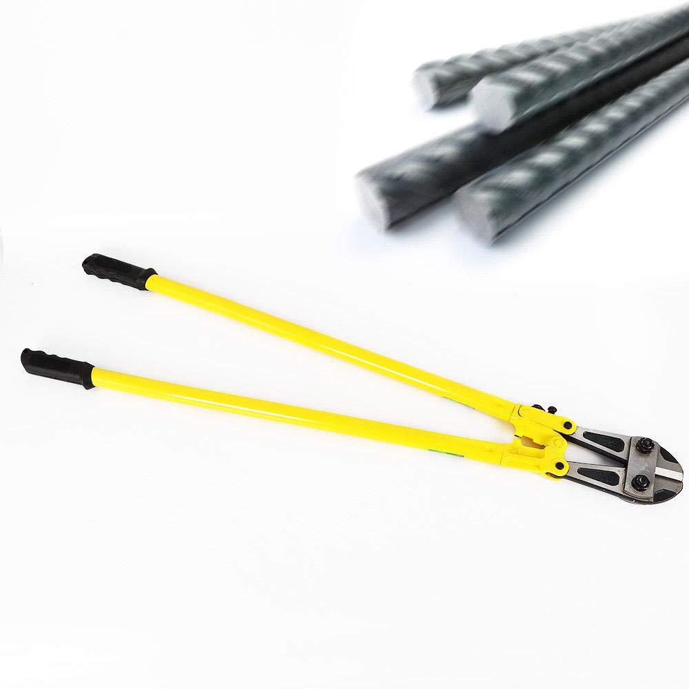 Chrom Vanadium Stahl Gelb 1200mm Bolzenschneider 45mm Backenl/änge 14mm Schneid
