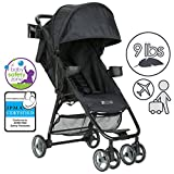 ZOE XL1 BEST Xtra Lightweight Travel & Everyday Umbrella Stroller System (Black)