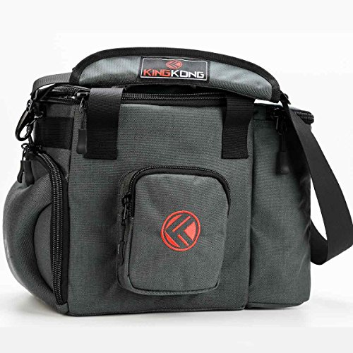 King Kong Fuel Meal Prep Bag - Insulated Thermal Polyester Lunch Bag, Military Spec Nylon Cooler Bag for Meal Prep - 10 x 14.5 x 9 - Charcoal