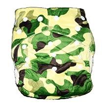 Bamboo Pocket Minky Snaps Cloth Diaper/ Nappy - OS - Camo (CAMOFLOUGE) Prints...