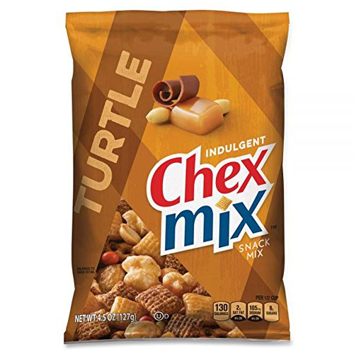 Chex Mix Chocolate Turtle Snack Mix 4.5 oz Each ( 7 in a Pack )