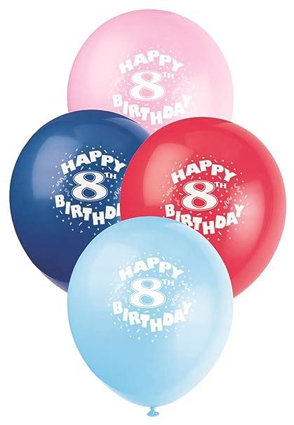 12quot Latex Happy 8th Birthday Balloons