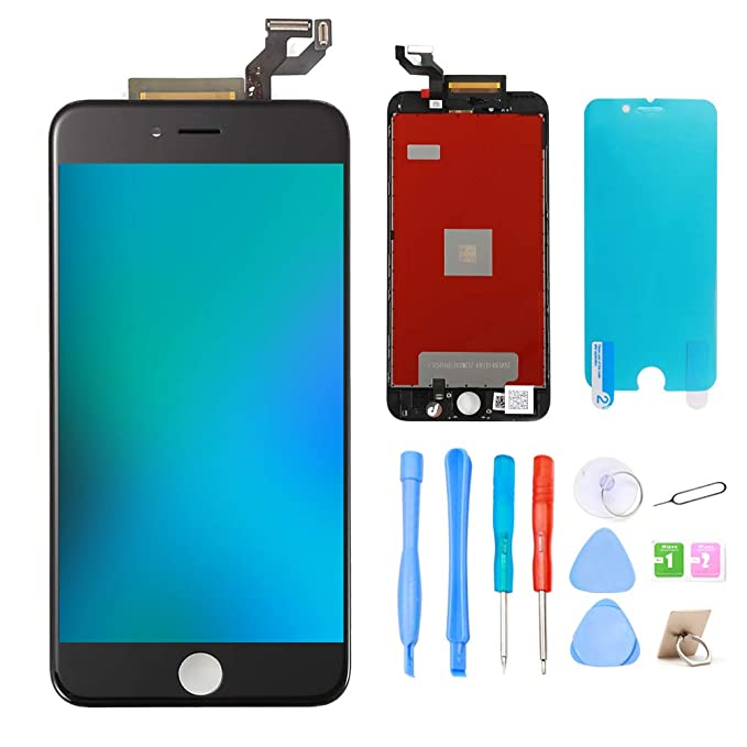 best service 0cc35 4e466 ibaye Screen Replacement Compatible for iPhone 6S Plus 5.5'' Black, LCD  Display & Digitizer Assembly with Repair Tools for iPhone 6S Plus