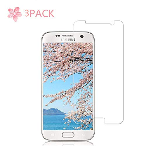 Price comparison product image 3 Pack Galaxy S7 Screen Protector 9H Hardness / Anti-Scratch / Anti-fingerprint / Anti-Bubble / 3D Curved / High Definition / BInfinite Glass Screen Protector S7