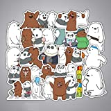 36Pcs We Bare Bears Stickers Cartoon Cute Little Bear for Laptop Luggage Toy Car