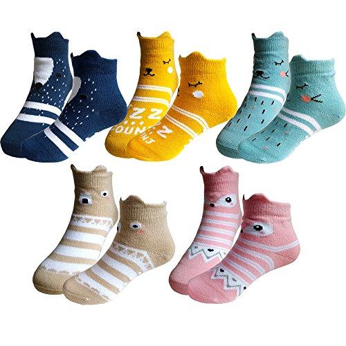 Baby 3D Anti-Slip Socks Set of 3 - 1