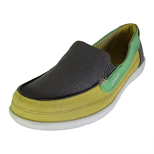 Crocs Women's Walu Canvas Loafer Smoke / Buttercup