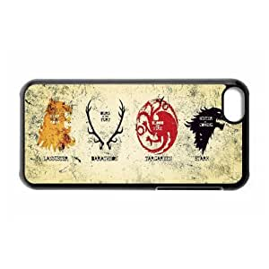 Game DIY-4 Game Of Thrones Print Black Case With Hard Shell Cover for Apple iPhone 5C