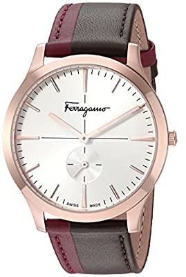 Salvatore Ferragamo Men's 'Slim Formal' Quartz Gold and Leather Watch, Color:Two Tone (Model: SFDE00618) by P2F Holdings, LLC dba Madluxe Group Watches Parent Code