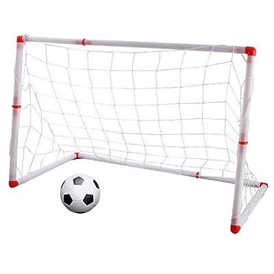 D DOLITY Portería de Fútbol Portátil de Entrenamiento de Deporte Juguete al Aire Libre para Jardín Playa de Niños - 126cm: Juguetes y juegos