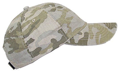 Mega Cap MG Unisex Unstructured Ripstop Camouflage Adjustable Ballcap - Desert - Adjustable Youth Camo Cap