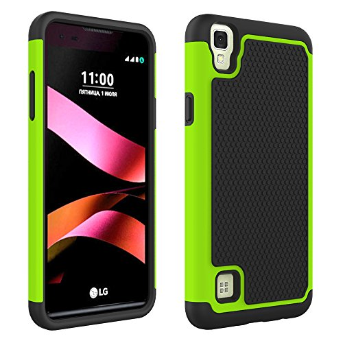 LG Tribute HD Case, LG X Style Case, MCUK [Scratch Resistant] [Shock Absorption] [Drop Protection] Hybrid Best Impact Defender Protective Case for LG Tribute HD / LG X Style / LG Volt 3 (Green) (Jeweled Lg Tribute Case)