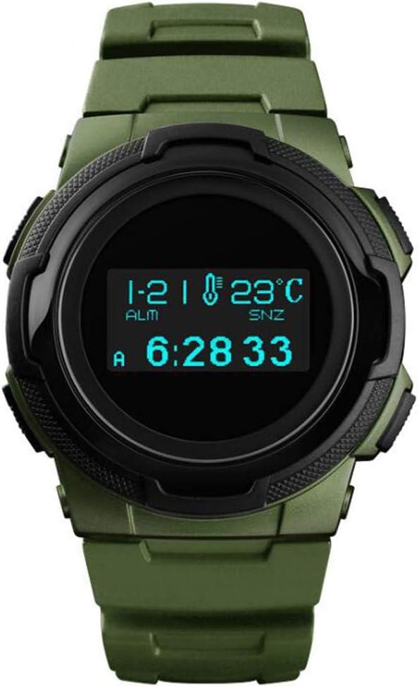 Moda Deportes Brújula Reloj al aire libre/Termómetro Paso Reloj/Mountain Adventure Reloj electrónico a prueba de agua luminoso