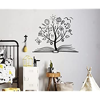 Amazonm Books Education Wall Vinyl Decal Tree Library. Middle School Lettering. Laundry Stickers. Radha Logo. August 4 Signs Of Stroke. Mareez Banners. Map Wall Mural. March Lettering. Integrity Murals