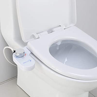 Bidet Sprayer For Toilet, Self-Cleaning Nozzle And No-Electric Fresh Water Sprayer Bidet Toilet Attachment-Easy To Install (White): Kitchen & Dining