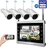 [Audio & Video] Luowice 4CH 960p HD Wireless Home Security Camera System with Built-in Monitor & Router 1 TB HDD Indoor/Outdoor Surveillance Cameras with Night Vision