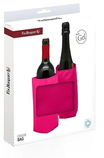 Vin Bouquet Funda enfriadora, Nailon, Rosa, 14.5x20x2.5 cm: Amazon ...