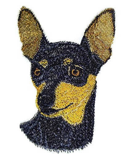 Amazing [Miniature Pinscher Dog Face] Embroidery Iron On/Sew patch [4