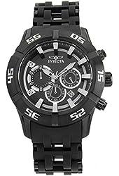 Invicta Men's Sea Spider Black Polyurethane Band Steel Case Quartz Analog Watch 21824