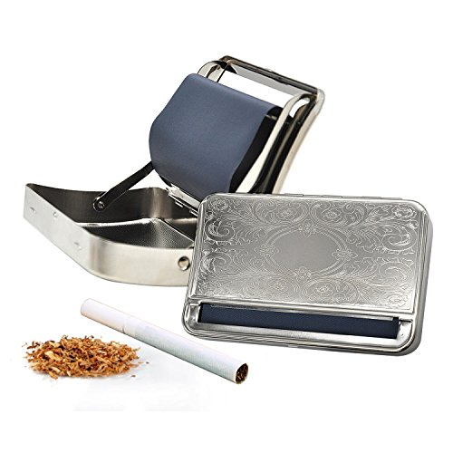 Metal Automatic Cigarette Rolling Machine Cigarette Roller Box Case Fit for 110mm Papers