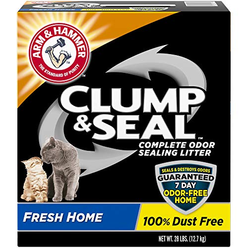 Arm & Hammer Clump & Seal Litter, Fresh Home Scent 28lb (Arm And Hammer Clump And Seal 28 Lbs)