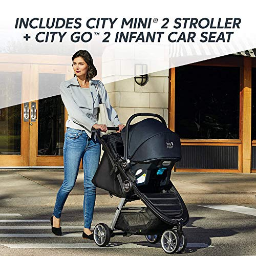 5167A10WCsL - Baby Jogger City Mini 2 Travel System, Jet