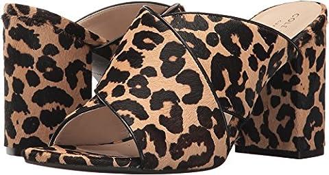 Cole Haan Women's Gabby Heeled Sandal, Ocelot Faux Hair Calf, 8 B US - Ocelot Faux Fur