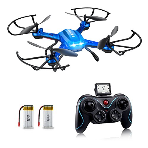 RC Quadcopter, Potensic F181H Drone RTF Altitude Hold UFO with 2.4GHz 6-Gyro Headless System HD Camera (Blue)