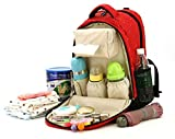 Red Baby Diaper Bag Travel Backpack Handbag Insulated Bottle Pockets US Shipping  Material: Canvas  Package Included Diaper Backpack x 1  Friendly Customer Service  Always here to help, feel free to email or call with any questions or concerns.  100%...