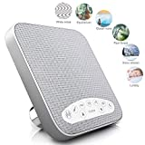 White Noise Machine, Sleep Therapy Sound Machine With 6 Soothing All-Natural Sounds - White Noise, Equilibrium, Ocean Waves, Raining Forest, Snowing Stream And Lullaby- Plus Auto-Off Timer and USB Out