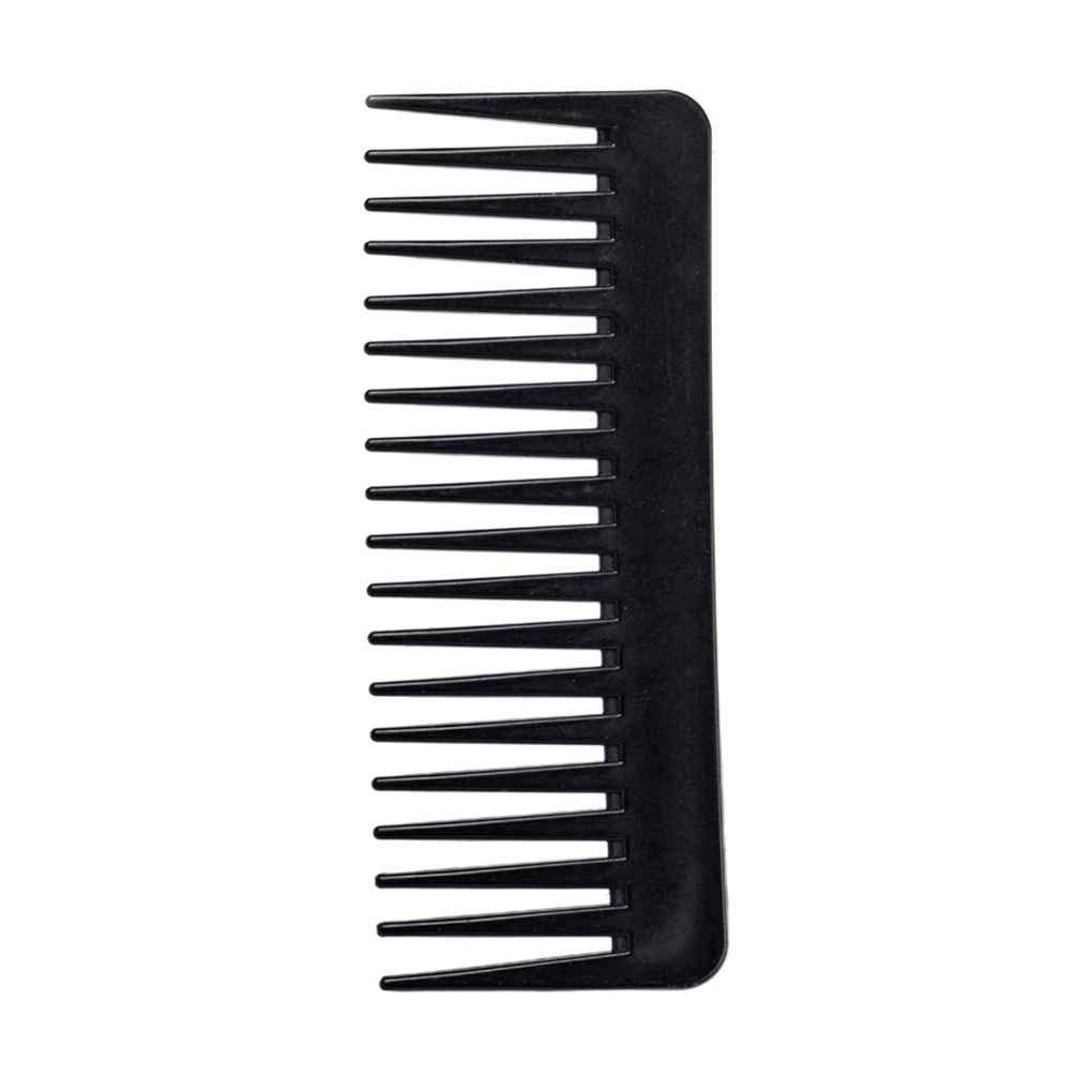 Deinbe Professionl 19 Teeth Wide Tooth Comb Black Plastic Heat-resistant Large Wide Tooth Comb Salon Styling Toolblack