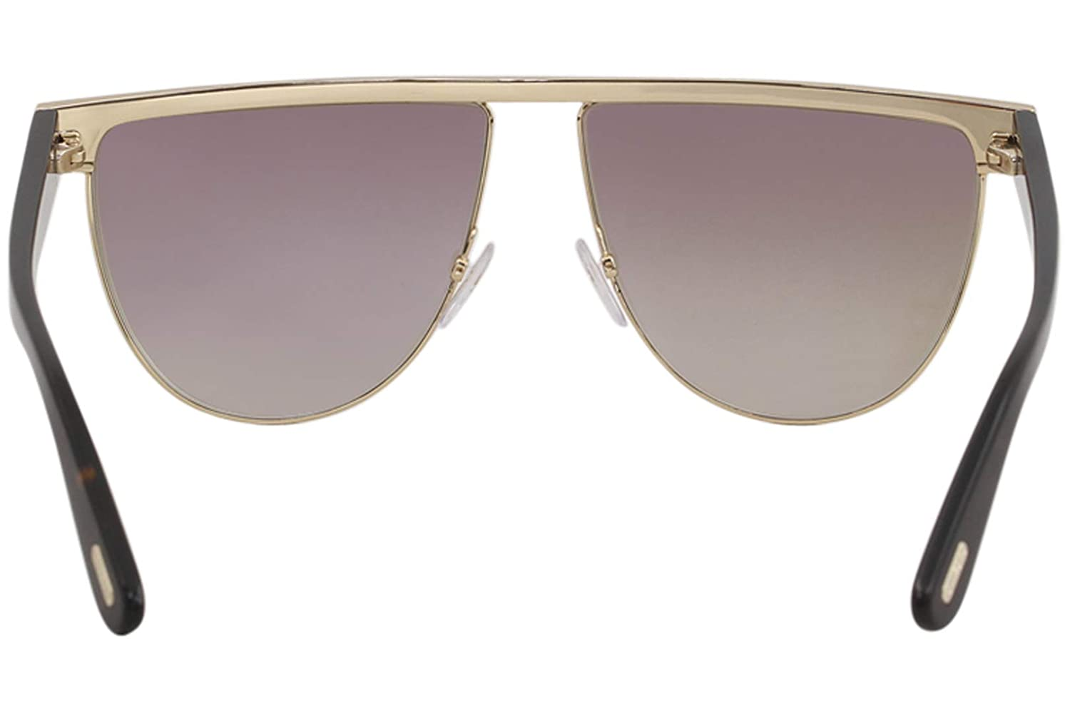 66fd3a9132 Sunglasses Tom Ford FT 0570 Stephanie- 02 28G shiny rose gold   brown  mirror at Amazon Men s Clothing store