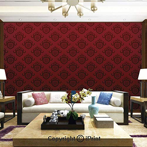 Mural Wall Art Photo Decor Wall Mural for Living Room or Bedroom,Baroque Art Emblem Figures Venetian Style Royal Luxury Theme Renaissance Inspired Decorative,Home Decor - 66x96 inches for $<!--$99.88-->