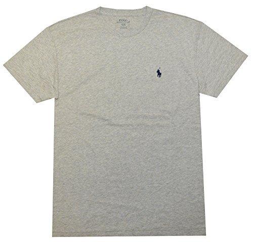 - Polo Ralph Lauren Men's Classic Fit Solid Crewneck T-Shirt (XXL, New Grey Heather)
