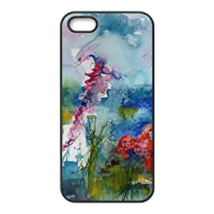 Stylish Iphone 5 5S Case, Jellyfish Design Rubber TPU Case for Iphone 5 5S