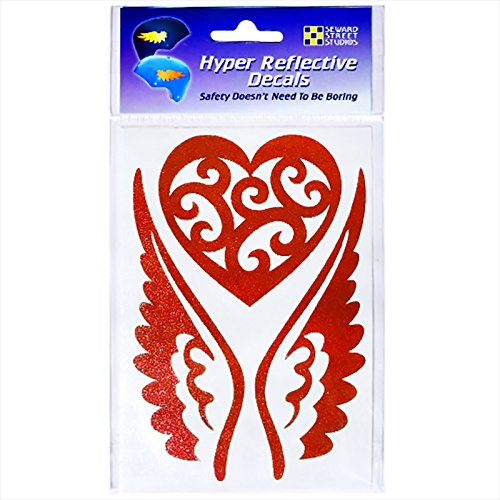Seward Street Studios Reflective Decals Heart and Wings Set – Winged Heart Safety Sticker Kit – Tribal Tattoo Reflector Stickers Review
