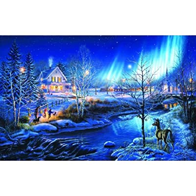 SUNSOUT INC All is Bright 1000 pc Jigsaw Puzzle: Toys & Games