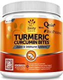 Zesty Paws Turmeric Curcumin for Dogs - 95% Curcuminoids for Hip & Joint + Arthritis Support - Digestive & Immune Supplement - Organic Turmeric